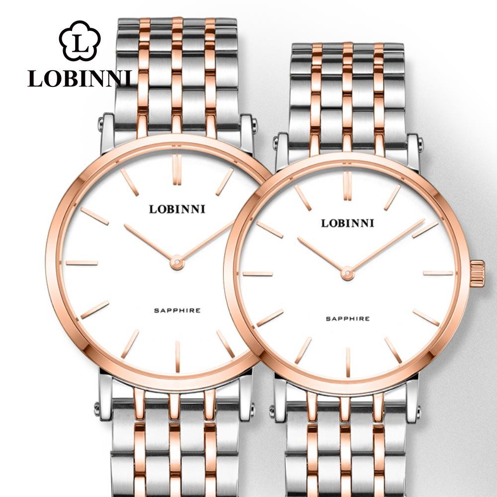 Lobinni Switzerland Luxury Brand Couple Watch Lover Japan Automatic Watch Men Fashion часы женские наручные Unisex Relogio