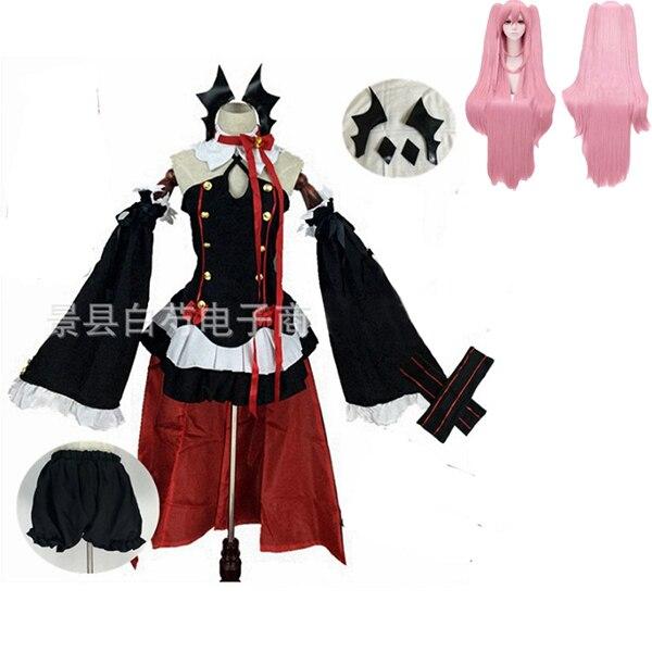 Аниме Серафим конца Owari no Seraph Krul Tepes униформа косплей костюм полный комплект платье наряд - Цвет: package 4