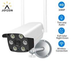 Joyzon kamera bezpieczeństwa cctv 1080P HD WIFI IP kamera zewnętrzna wodoodporna widzenie nocne z wykorzystaniem podczerwieni Bullet Surveillance