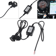 12V 24V Universal Dual USB Car Mobike phone Charger DC to Coverter 5V 3A Waterproof for Motorcycle Motorbike RV