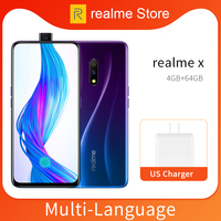 realme X 4GB 64GB Moblie Phone Snapdragon 710 AIE Octa Core 6.53 Full Screen 48MP Dual Camera Cellphone 20W VOOC Charger