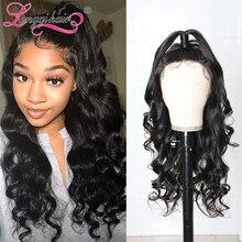 Парики Longqi с двойным U-образным плетением, бразильские волнистые волосы с тремя частями, парики из 100% человеческих волос для женщин, бесплат...