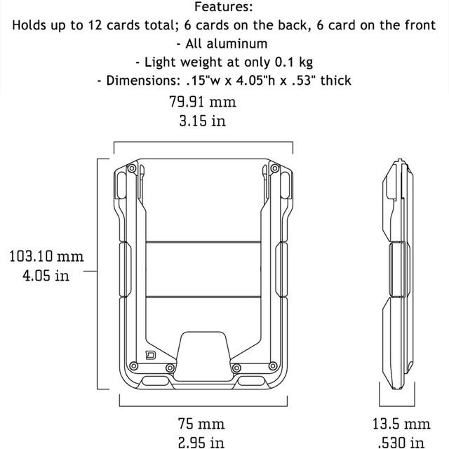 DIENQI Rfid Metal Credit Card Holder Men Tactical lanyards id badge holder Credential Cardholder Case Smart Minimalist Wallet 4