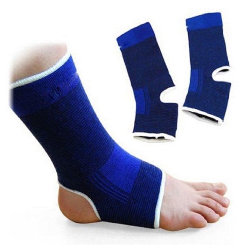 Um par elástico tornozelo suporte cinta de compressão envoltório manga bandagem esportes alívio dor ginásio fitness pé engrenagem protetora|Tornozeleira|   -