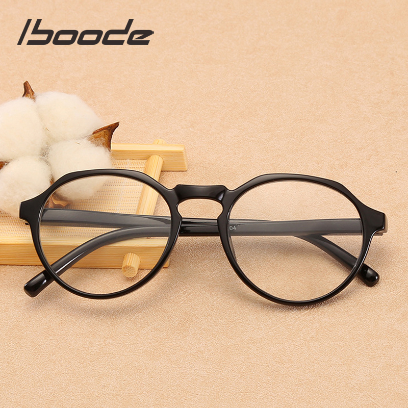 Iboode Ultralight Polygon Reading Glasses For Men Women Anti Fatigue Computer Eyeglasses Black Frame Reading Presbyopia Eyewear
