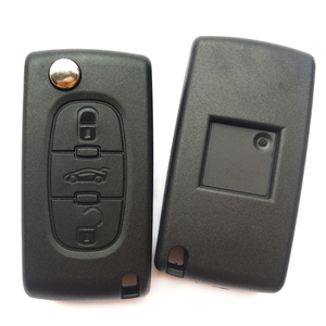Image 5 - 3 زر سيارة مفتاح بعيد قذيفة فوب لبيجو 406 407 308 408 307 شريك فليب غطاء مفتاح قابل للطيّ غطاء CE0536 HU83/VA2 شفرة