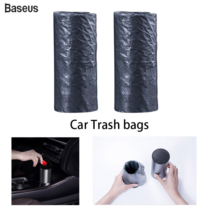 Baseus Car Trash Bags For Car Trash Cans Ashtray Barrels Car Mini Storage Box Auto Accessories Garbage Bag Interior Rubbish Bags