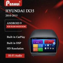 Dvd do carro de android para hyundai ix35/tucson (2010-2015) rádio do carro leitor de vídeo multimídia navegação gps 2din