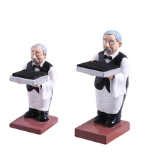 Old Butler Man Watch Stand Old Man Bracelet Ring Stand Creative Glasses Holder Watch Storage Table Jewelry Display Rack cheap CN(Origin) Resin As Picture Shows 200G for grandpa grandma parents father s day decorate the rooms 1 Pc