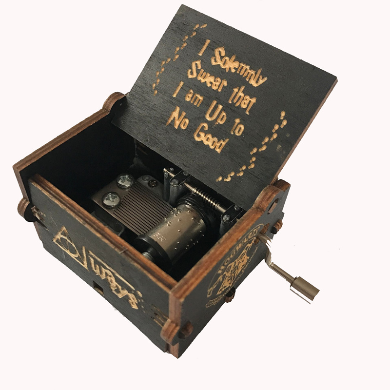 Hand Cranked wooden Music Box Game Thrones Star Wars Christmas new year birthday Queen Zelda Theme Sky Castle image
