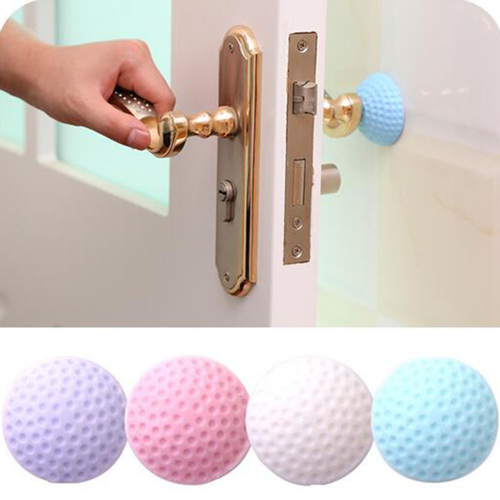 3pc Kitchen Door Silicone Suction Cup Door Sucker Handle Anti-collision Pad Mute Reduce Noise Safety Protection