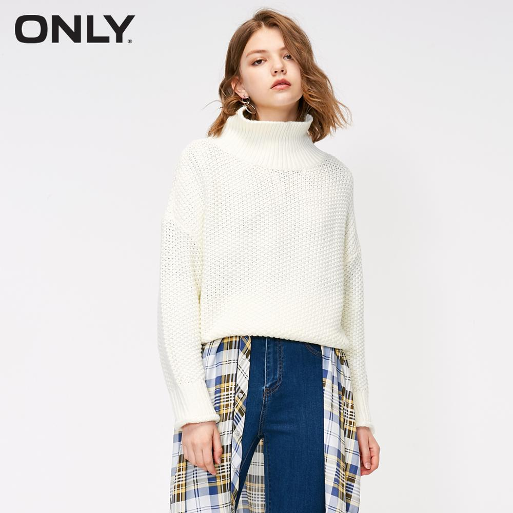 ONLY Autumn New Simpe Loose Solid Color Sweater  |  118313504