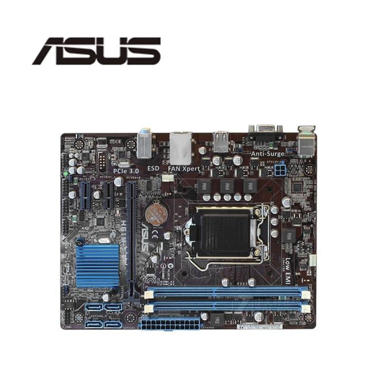 Para ASUS H61M-E DDR3 Do Computador Motherboard LGA 1155 Para Intel H61 P8H61 Mainboard Desktop SATA II PCI-E X16 Usado