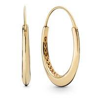 2019 NEW 100% 925 Sterling Silver Chunky Hoop Earrings Shine Gold Drop Earrings Ear Studs Fit DIY Women Jewelry Gift wholesale