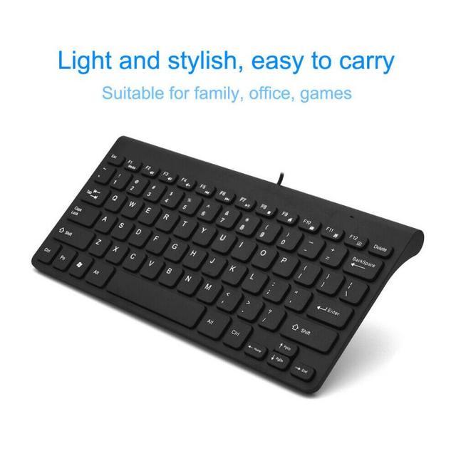 78 Keys Mini Slim Wired USB Keyboard Waterproof For PC Desktop Laptop Mac Book Computer Peripherals 2.0 Ultra Slim Keyboards New
