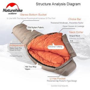 Image 3 - Naturehike 2019 20D Winter Thicken Mummy Goose Down Sleeping Bag Super Keep Warm 750FP Comfort Restriction Temperature  15℃  42℃