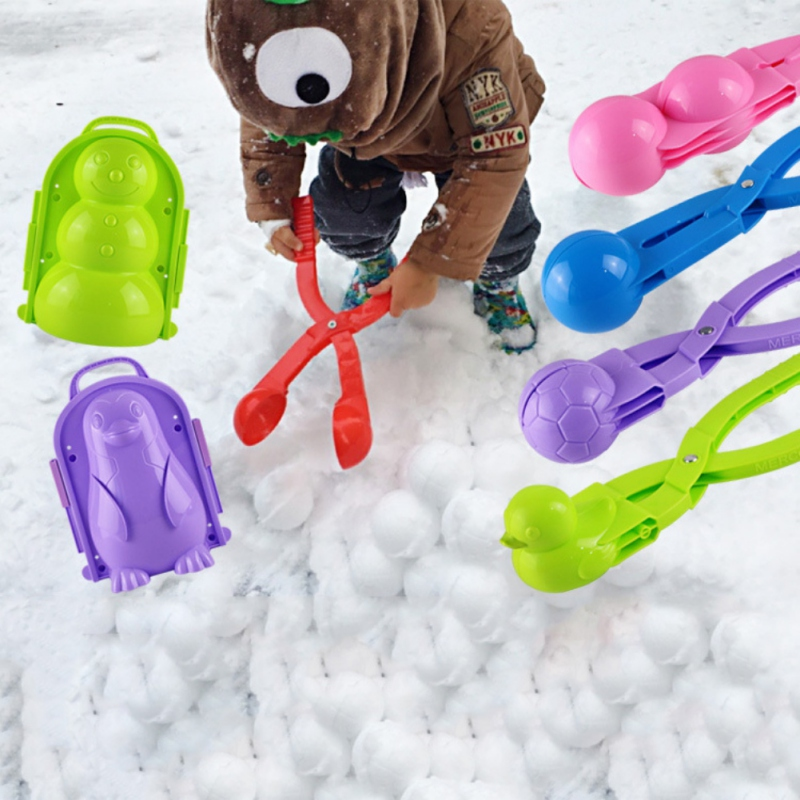 3D Soccer Snow Ball Maker Clip Kids Winter Snowball Maker Mold Outdoor Sport Snowman Sand Making Mould Toy Snowballs Fight