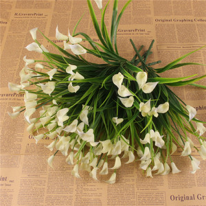 Image 5 - 23 Con/1 Lô Bó Hoa Mini Nhân Tạo Calla Với Lá Lụa Giả Lily Thực Vật Thủy Sinh Nhà Trang Trí Phòng Hoa hoa Giả