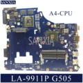 KEFU LA-9911P материнская плата для ноутбука lenovo G505 оригинальная материнская плата A4-CPU