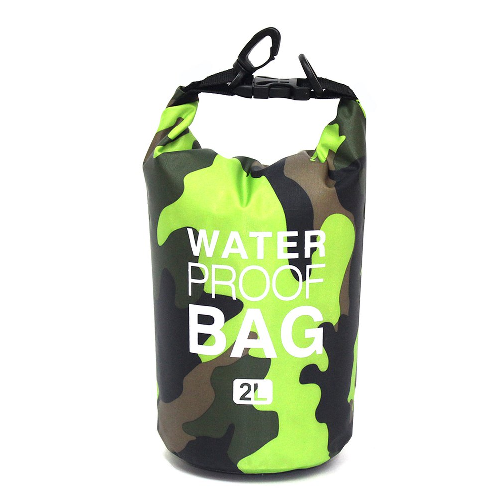 Camouflage Polyester Waterproof Bag Portable Shoulder Waterproof Bucket Bag Lightweight Drifting Bag