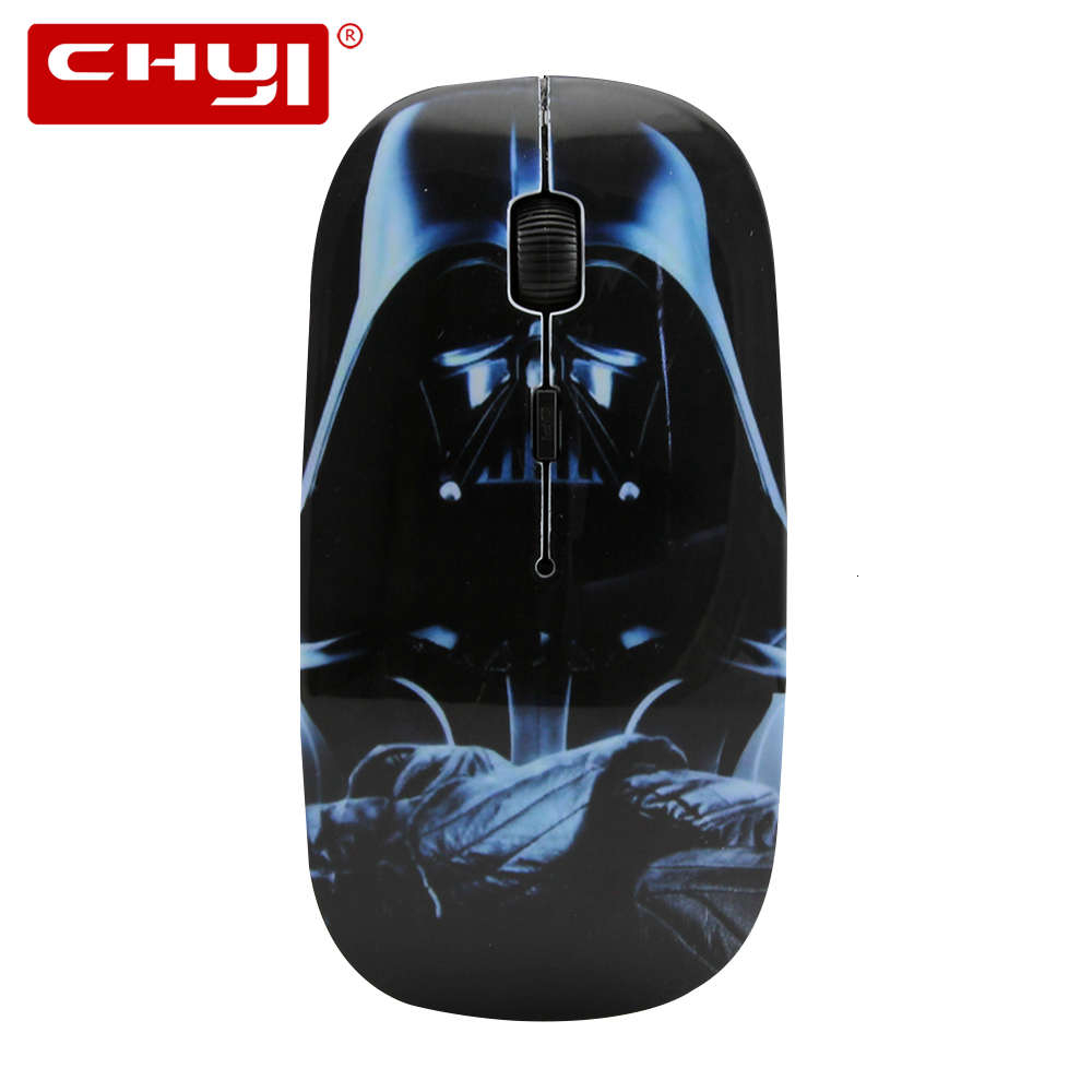 CHYI Wireless Mouse Ergonomic Optical Computer Mouse Small Portable USB 3D Mice 1600 DPI For Kid Boy For PC Laptop Darth Vader