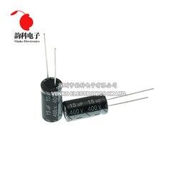 5 pces 400 v 15 uf 10*20mm capacitor eletrolítico de alumínio 10x20mm