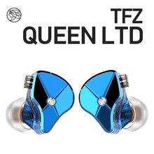 O perfumado zither tfz rainha ltd 2pin interface de metal em fones ouvido alta fidelidade monitor 3.5mm esportes música dinâmica fone de ouvido s2 s7