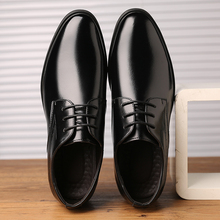 2019 New Pointed Toe Business Male British Style Shoes Leather Fashion Spring Autumn Men Casual Shoes Men Shoes Lace-up *1097 стоимость