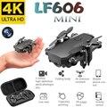 Mini Drone LF606 4K HD caméra pliable quadrirotor une clé retour FPV Drones suivez-moi RC hélicoptère Quadrocopter jouets pour enfants