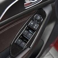 For MAZDA 3 Axela accessories decorate carbon fiber Windows Control Panel automotive interior trim stickers2014 2017 2018