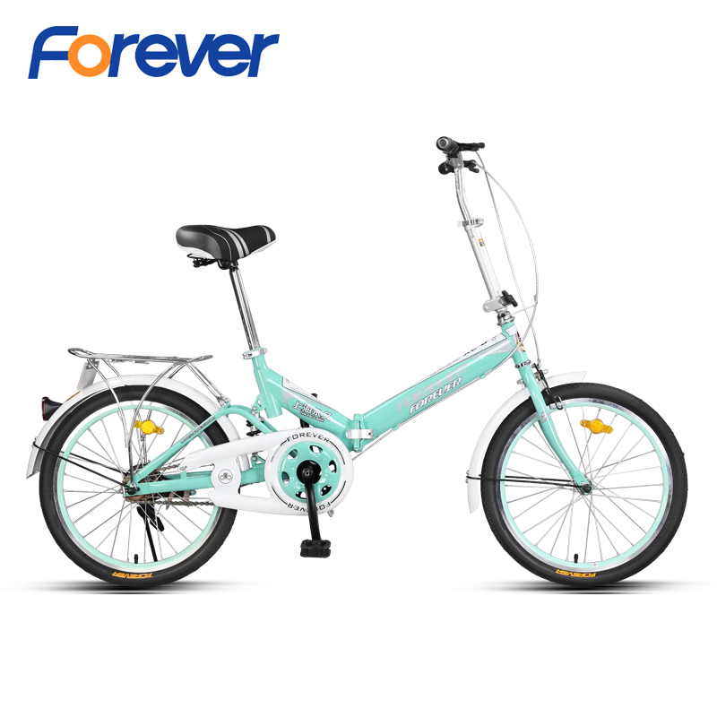 FROEVER 16inch Folding Bicycle High Carbon Steel Cycle V-shape Rear Brake Foldable Bike for Students and Commuters MTB Cycling image
