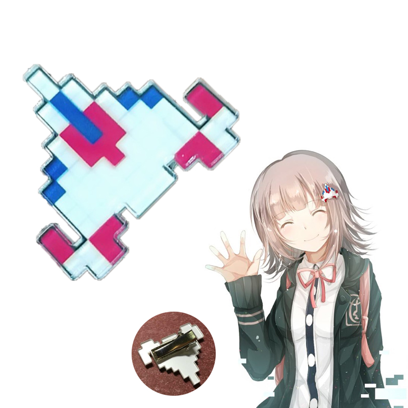 Japanese Anime Dangan Ronpa <font><b>Danganronpa</b></font> Cosplay Hair Clip Nanami ChiaKi Cute Plane Shape Mosaic Hairpin Party Props image