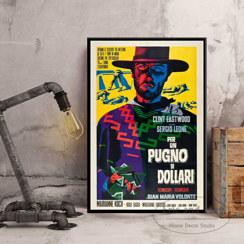 P631 Art Poster Clint Eastwood A Fistful of Dollars Classic Cowboy Movie