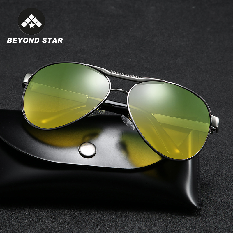 2019 Retro Pilot Night Vision Driving Sunglasses Men Polarized Vintage Yellow Glasses Brand Polarised Shades G819