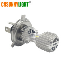 CNSUNNYLIGHT HS1 BA20D H4 LED Motorcycle Headlight P43t P15D-25-1 Hi/Lo Bi-beam Bulb 1100Lm White 6000K internal Faro Moto Lamps(China)