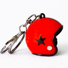 Helmet Key Chain Motorcycle Safety Helmet Keychain Men Key Holder Women Cute Trendy Five-pointed star Key Ring for Car Purse Bag 1pc creative helmet key chain zinc alloy motorcycle keychain men and women key ring trendy keyring for car purse bag gift