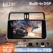 Android 10 Car Multimedia Radio Player HD 360 Camera For Toyota Land Cruiser Prado 150 2017+ PX6 4G+64GB Car GPS Navigation DSP