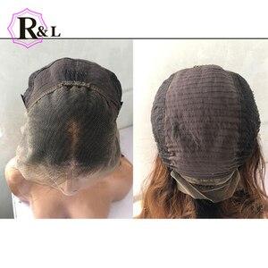 Image 3 - RULINDA 1B/27 человеческие волосы на шнуровке с эффектом омбре, диаметром 13*4, бразильские волнистые волосы без Реми, парики на шнуровке плотностью 130%