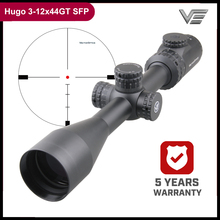 Vector Optics Hugo 3 12x44 E 1 Inch Riflescope Min 10 Yds Etched Glass Reticle Turret Lock Side Focus Field Target Shooting