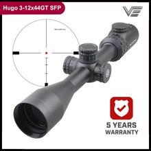Vektör optik Hugo 3 12x44 E 1 inç tüfek Min 10 Yds kazınmış cam Reticle taret kilidi yan odak alan hedef çekim
