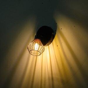 Image 4 - 회전 로프트 북유럽 천장 조명 로프트 G9 케이지 룸 조명 크리 에이 티브 천장 조명 1/2/3 헤드 램프 홈 장식 레스토랑