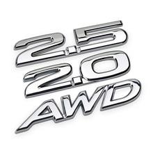 3D Metal 2.5 2.0 AWD naklejki z Logo samochodów Auto odznaka naklejki z literami i cyframi dla Mazda 2 3 5 6 MPV CX-5 CX-7 CX-9 Atenza Axela RX7 RX8 626 MX5