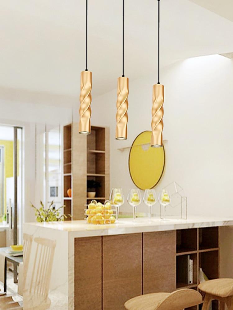 de Bar Decoração Luzes Da Cozinha Tubo Do Cilindro