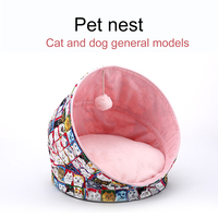HOT Pet Dog House Foldable Warm Puppy Cats Sleeping Bed Mat Kennel Tent TI99