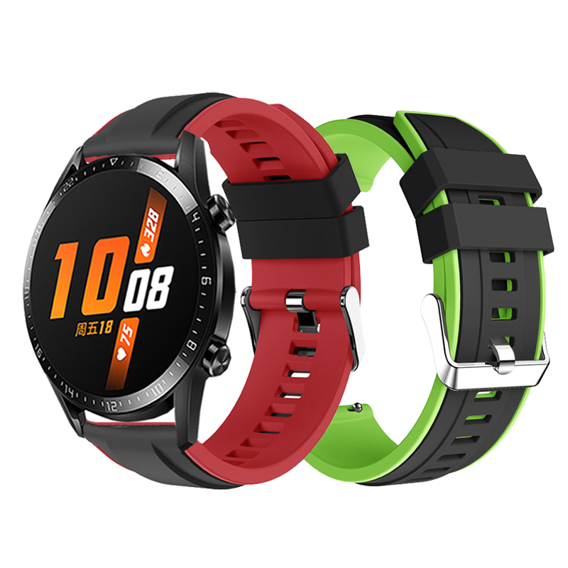 Silicone Wristband Strap For HUAWEI WATCH GT 2 46mm / GT Active 46mm HONOR Magic Band Bracelet GT2 Smartwatch Watchband 22mm
