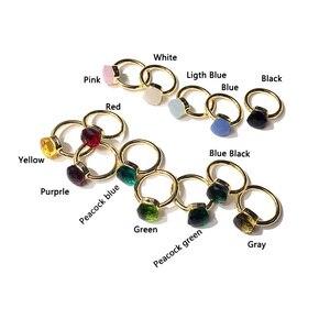 Классическое кольцо в виде капель воды в стиле конфет, 22 вида цветов, кольца с зелеными, красными, синими кристаллами для женщин, модные украшения (DJ1120)