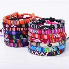 Meetvii bransoletka etniczna nici Retro Handmade Boho Multicolor sznurek pleciony pleciony Bohimia przyjaźń bransoletki kobiety mężczyźni