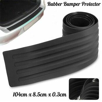 цена на Car Rear Trunk Bumper Scratch Bar Universal Car Black Rear Bumper Sill Protector Plate Rubber Cover Guard Trim Pad 104CM 90CM
