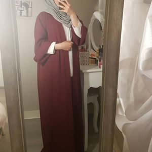 Eid Mubarak Open Abaya Dubai Turkey Abayas for Women Muslim Cardigan Hijab Dress Islamic Clothing Vestido Arabe Mujer Musulmanes