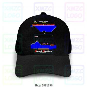 Arcade Scramble Space Invaders Video juego Retro Vintage Aliens 8 Bits gorra de béisbol gorras mujeres hombres